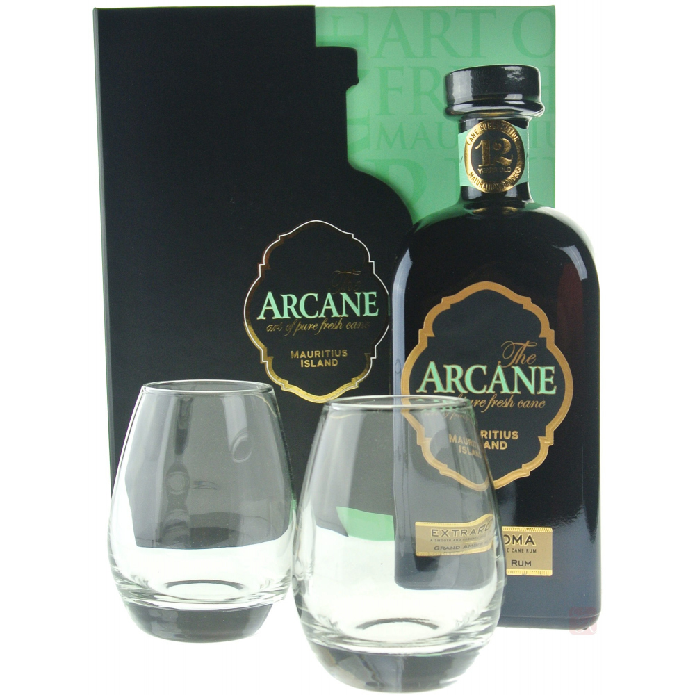 arcane coffret extraroma 2 verres rhum ile maurice. Black Bedroom Furniture Sets. Home Design Ideas
