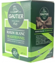 Bag In Box Isautier White Rum (100proof) 49° 300cl