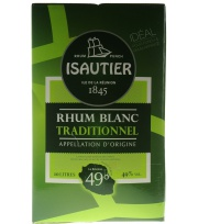 Bag In Box Isautier White Rum (100proof) 49° 10L